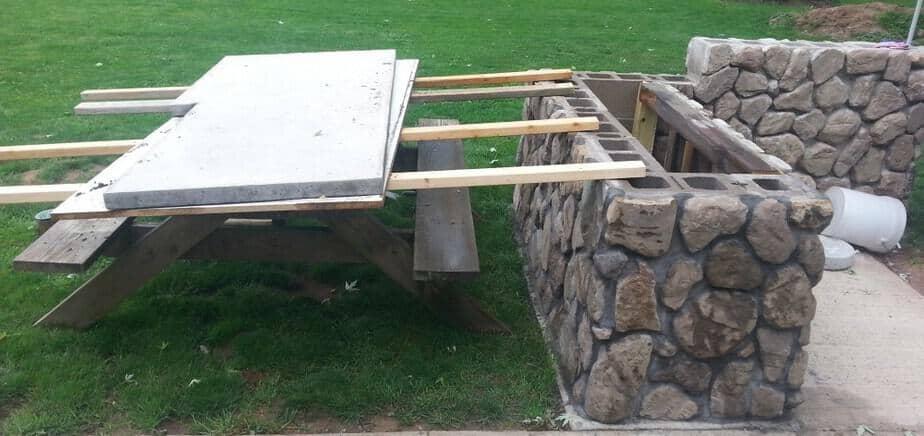 installing a concrete countertop