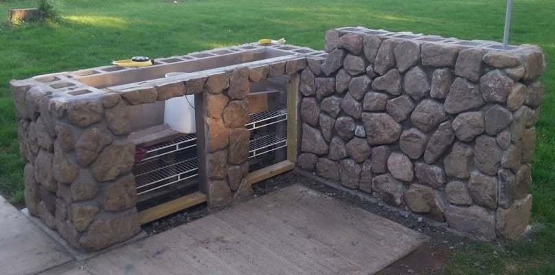 custom grill island
