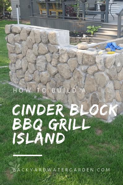 DIY cinder block bb grill island