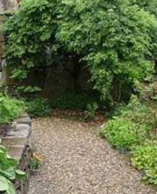 gravel walkway