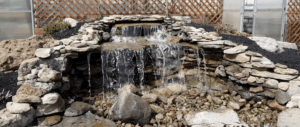 koi pond supply store waterfall