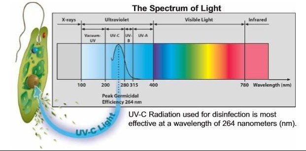 UV light sterilization range