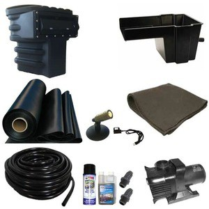 "Patriot pond kit with 8"" waterfall and 1200 gph pump"