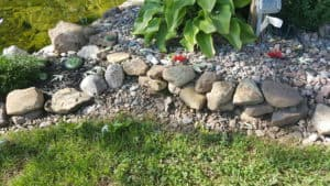 stone garden edge
