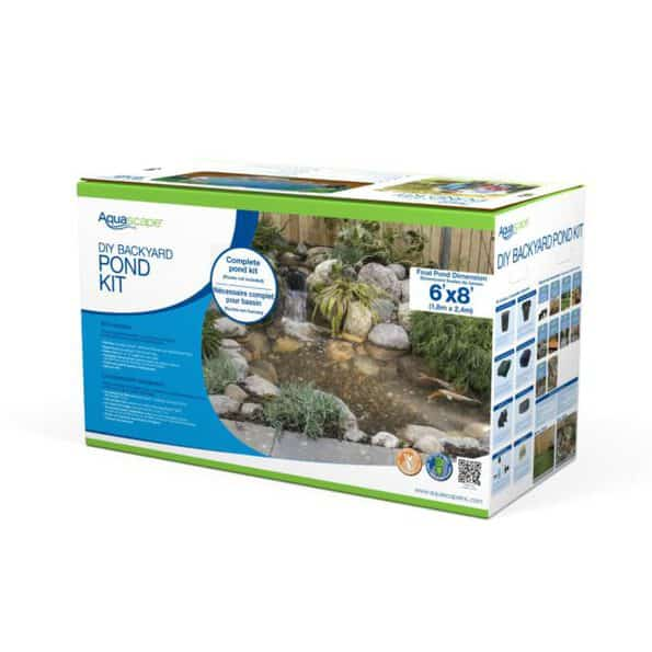 DIY 6x8 backyard pond kit in box