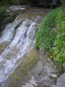 summer rushing waterfall