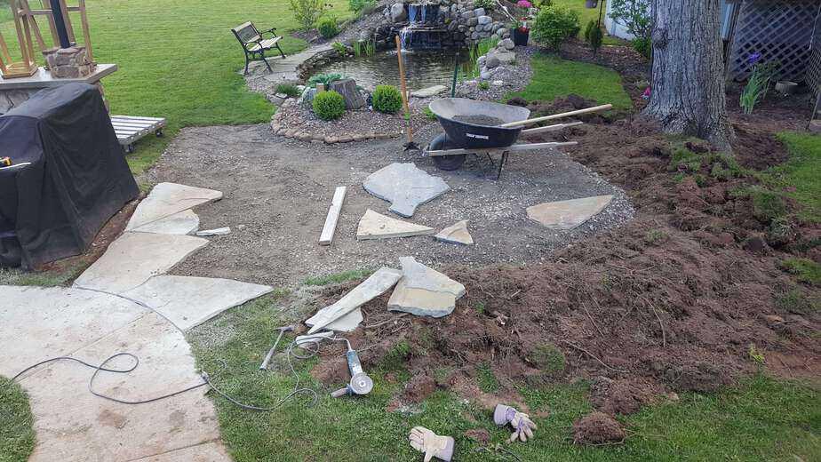 flagstone patio construction