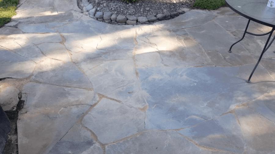 finishing a flagstone patio