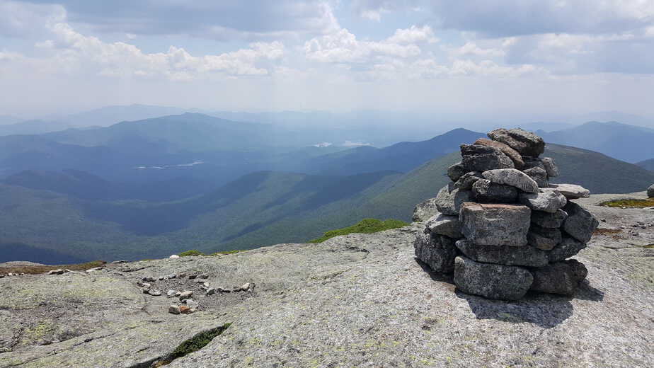 view from the top of mount marcy