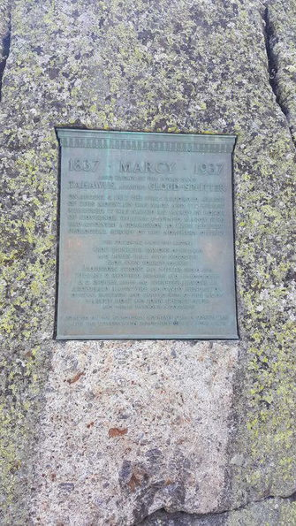 plaque on top of mount marcy