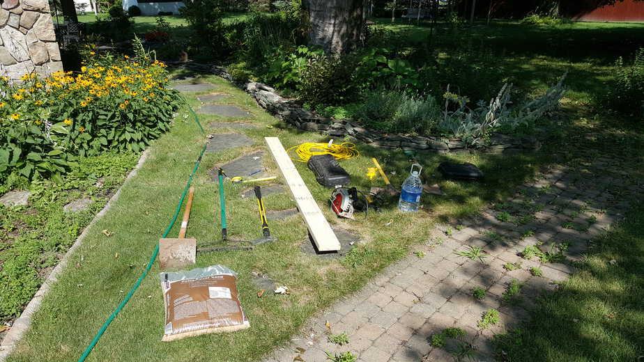 tools needed to fix a brick walk