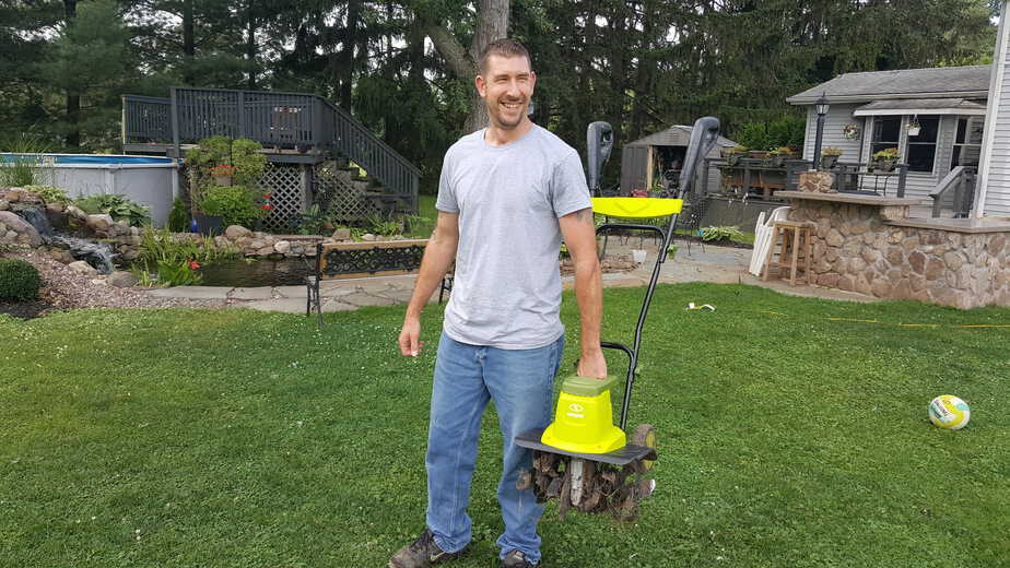 easy to lift electric rototiller