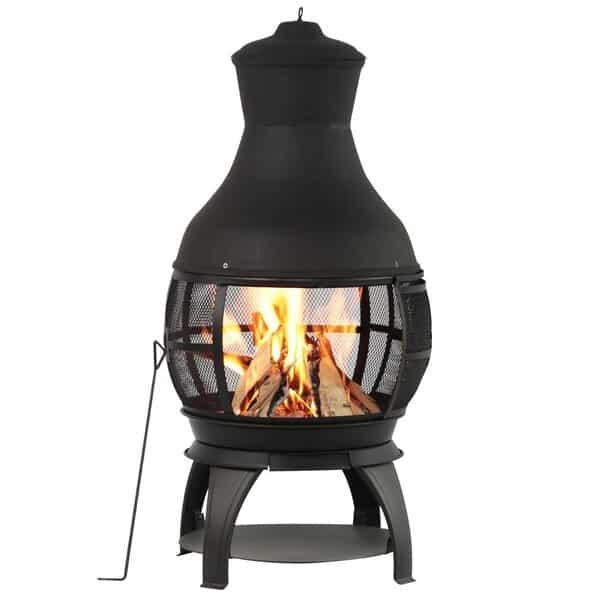 chimenea outdoor fireplace