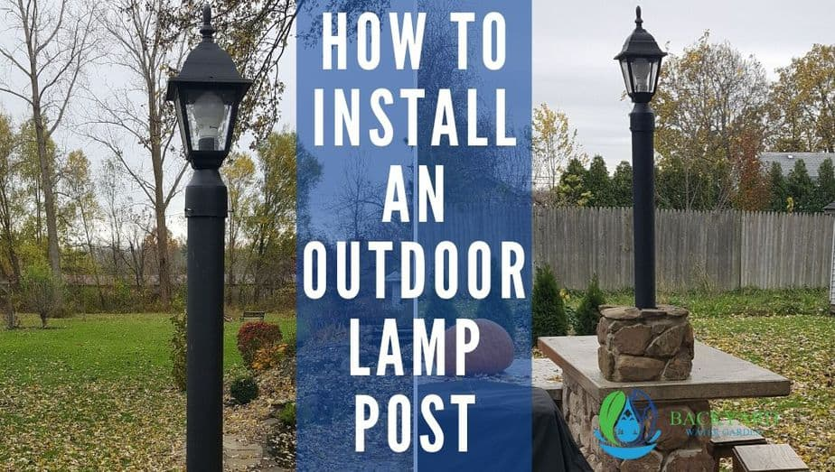 install a lamp post