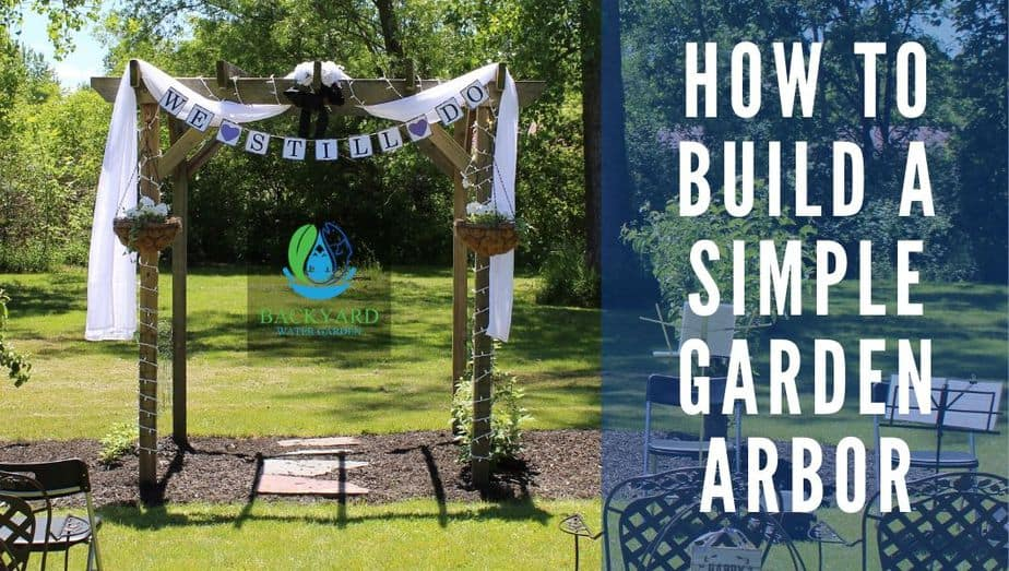 How To Build A Simple Garden Arbor blog banner